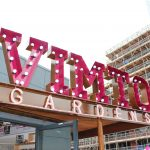 Vimto Gardens Steel Sign Letters Light Bulbs