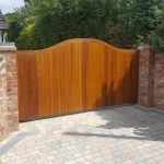 Block Paver Driveway Automated timber Gates