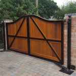 Automated Gates Wooden Metal Frame Bradleys