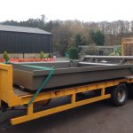 Wheel Spinner Spoil Tray on Low Loader